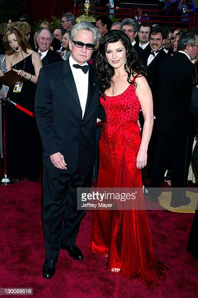 Michael Douglas and Caterine ZetaJones during The 76th Annual Academy Awards Arrivals at The Kodak Theater in Hollywood California United States
