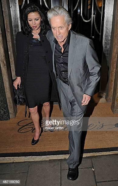 Michael Douglas and Catherine Zeta Jones are seen leaving the Claridges Hotel on February 24 2011 in London United Kingdom