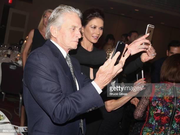 Michael Douglas and Catherine Zeta Jones at The Actors Fund of America's 'Career Transition for Dancers Jubilee Gala' at The Marriott Marquis Hotel...