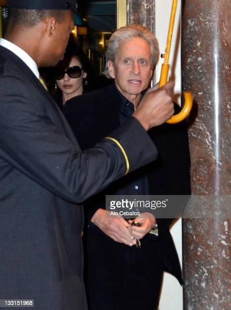 Michael Douglas and Catherine Zeta Jones sighting on November 17 2011 in New York City