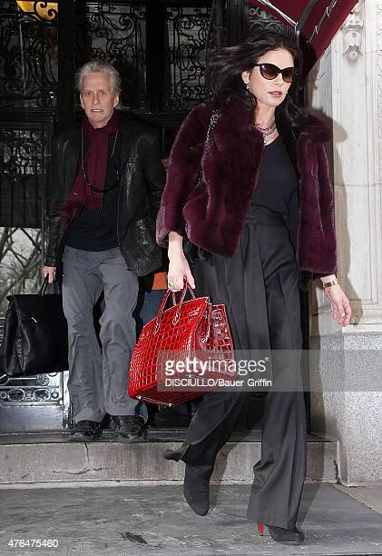 Michael Douglas and Catherine ZetaJones are seen on January 11 2011 in New York City