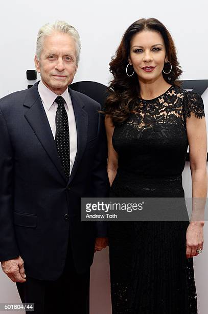 Michael Douglas and Catherine ZetaJones attend Jazz at Lincoln Center's Ertegun Atrium and Ertegun Hall of Fame grand reopening at Jazz at Lincoln...