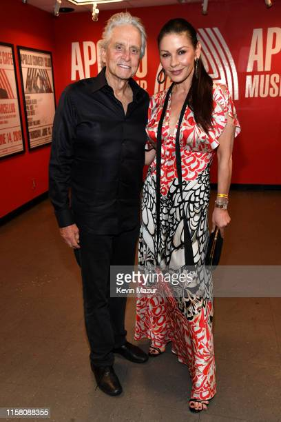 Michael Douglas and Catherine ZetaJones attend SiriusXM Pandora Present Lady Gaga At The Apollo on June 24 2019 in New York City
