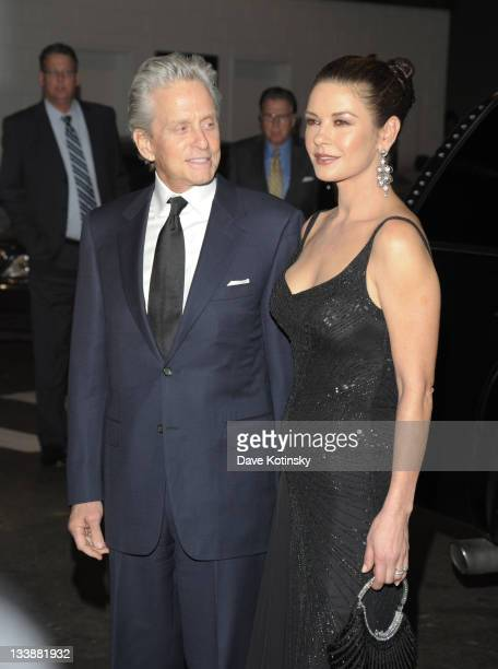 Michael Douglas and Catherine ZetaJones attend the 2011 Children of Chernobyl's Children at Heart gala at the Chelsea Piers on November 21 2011 in...