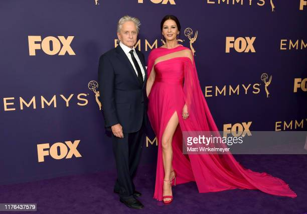 Michael Douglas and Catherine ZetaJones attend the 71st Emmy Awards at Microsoft Theater on September 22 2019 in Los Angeles California