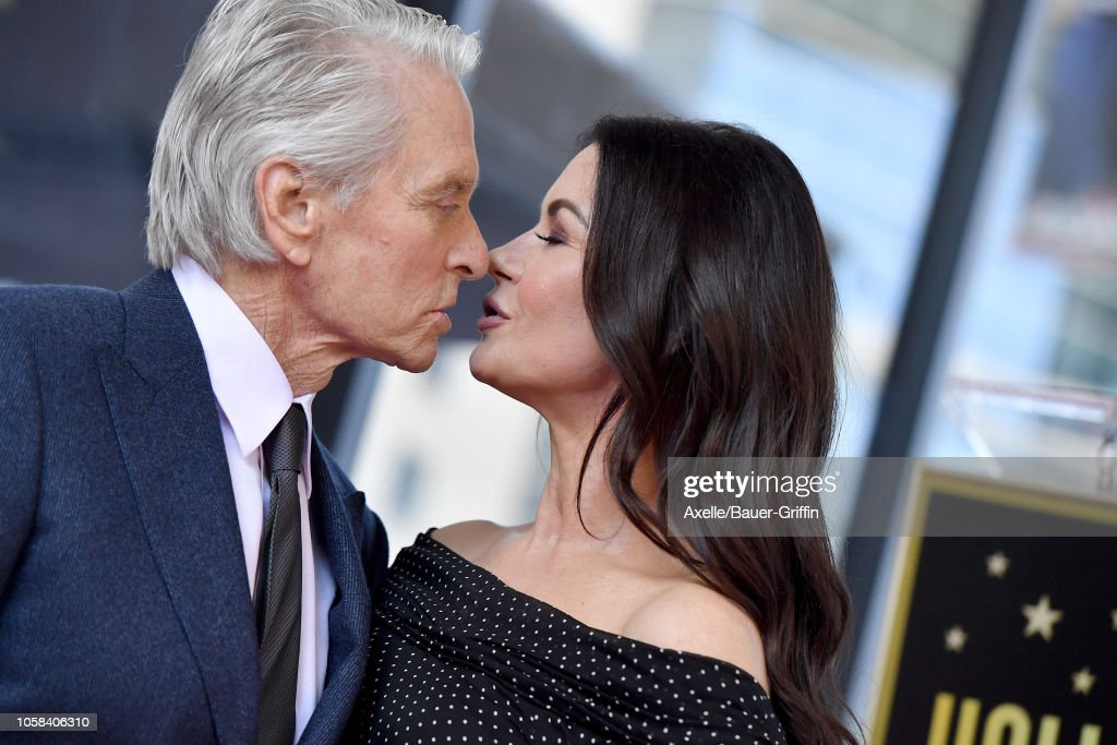 Michael Douglas Honored With Star On The Hollywood Walk Of Fame : News Photo