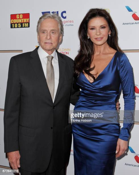 Michael Douglas and Catherine ZetaJones attend the Los Angeles Mission Legacy of Vision Gala at Four Seasons Hotel Los Angeles at Beverly Hills on...
