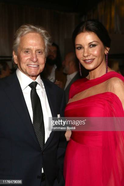 Michael Douglas and Catherine ZetaJones attend the Netflix's 71st Emmy Awards After Party on September 22 2019 in Hollywood California