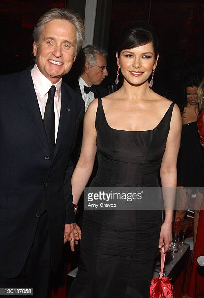 Michael Douglas and Catherine ZetaJones during 61st Annual Golden Globe Access Hollywood Post Party Sponsored by NBC and Target at Beverly Hilton in...