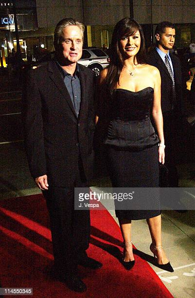 """Michael Douglas and Catherine Zeta-Jones during """"Intolerable Cruelty"""" Premiere - Red Carpet at Academy Theater in Los Angeles, California, United..."""