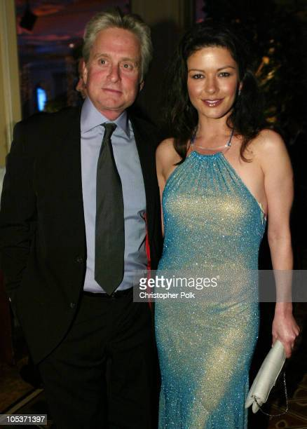 Michael Douglas and Catherine ZetaJones during Nicole Kidman Honored by EIF's Women's Cancer Research Fund and Honorary Chairs at Regent Beverly...