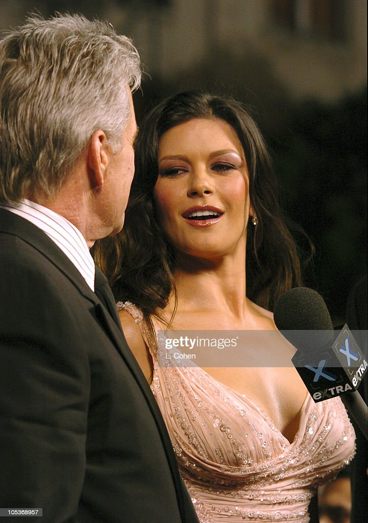 Michael Douglas And Catherine Zeta Jones During Oceans Twelve Los Angeles Premiere