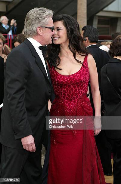 Michael Douglas and Catherine ZetaJones during The 76th Annual Academy Awards Arrivals by Chris Polk at Kodak Theatre in Hollywood California United...