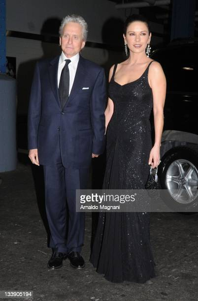 Michael Douglas and Catherine ZetaJones sighted as they attend the Children of Chernobyl Hosts Children At Heart Gala Dinner held at Pier 60 on...