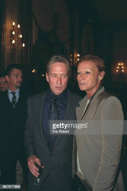 TRIBUTE TO MICHAEL DOUGLAS Michael Douglas and Chantal Cerruti at the Piper Heidsieck evening