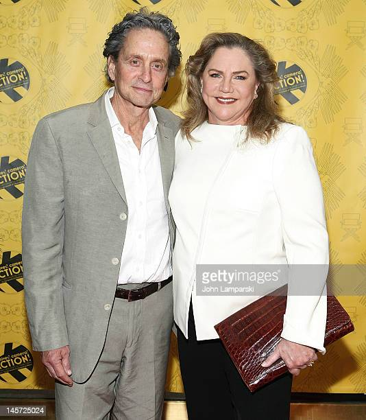 """Michael Douglas and Kathleen Turner attend the 27th Annual """"Chefs' Tribute To Citymeals-On-Wheels"""" Benefit at Rockefeller Center on June 4, 2012 in..."""