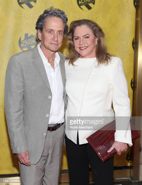 Michael Douglas and Kathleen Turner attend the 27th Annual Chefs' Tribute To CitymealsOnWheels Benefit at Rockefeller Center on June 4 2012 in New...