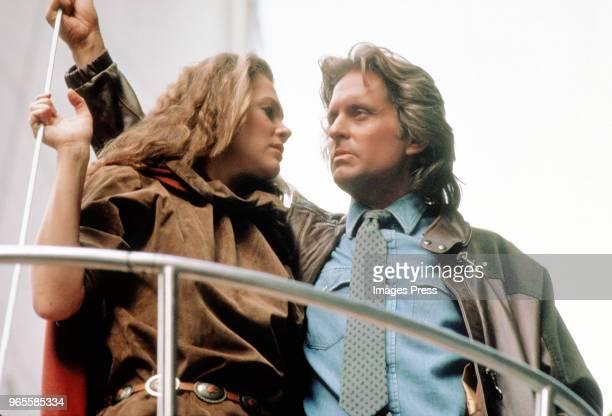 Michael Douglas and Kathleen Turner circa 1983 in New York City.