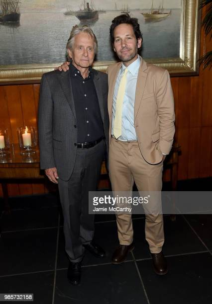 Michael Douglas and Paul Rudd attend The Cinema Society With Synchrony And Avion Host A Screening Of Marvel Studios' AntMan And The Wasp After Party...