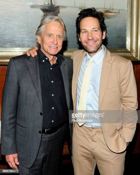 Michael Douglas and Paul Rudd attend The Cinema Society With Synchrony And Avion Host The After Party For Marvel Studios' 'AntMan And The Wasp' at...