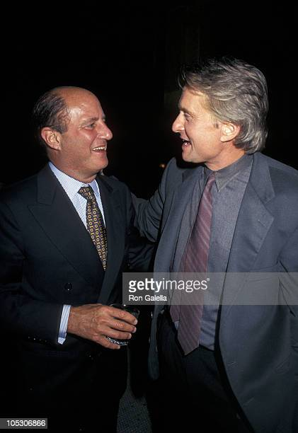 Michael Douglas and Ronald Perelman during 'The Game' New York Premiere at Sony 19th Street East Theater in New York City New York United States
