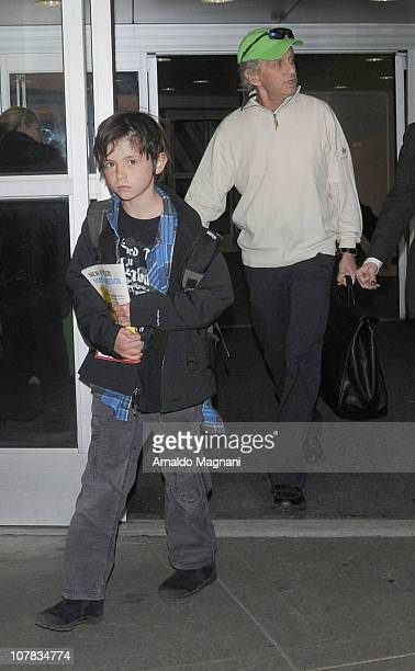 Michael Douglas and son Dylan Douglas sighting at JFK airport on December 31 2010 in the Queens borough of in New York City