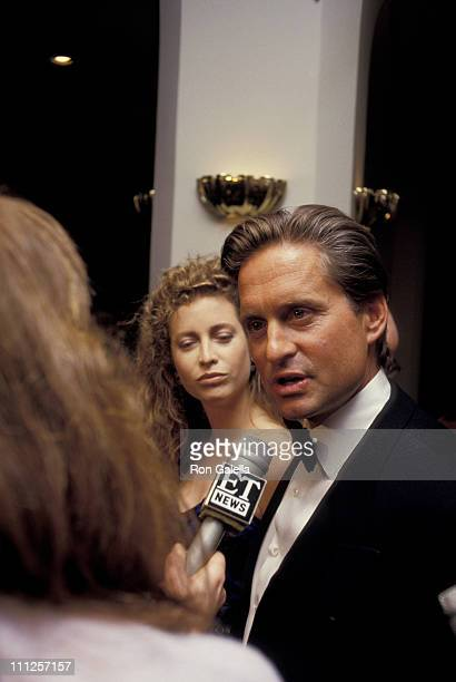 Michael Douglas and Wife during The American Academy of Dramatic Arts Tribute to Kirk Douglas at Waldorf Astoria Hotel in New York City New York...