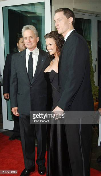Michael Douglas Anna and Kris Benson arrive at the Children At Heart Gala To Benefit Children Of Chernobyl on November 22 2004 at Pier 60 at the...