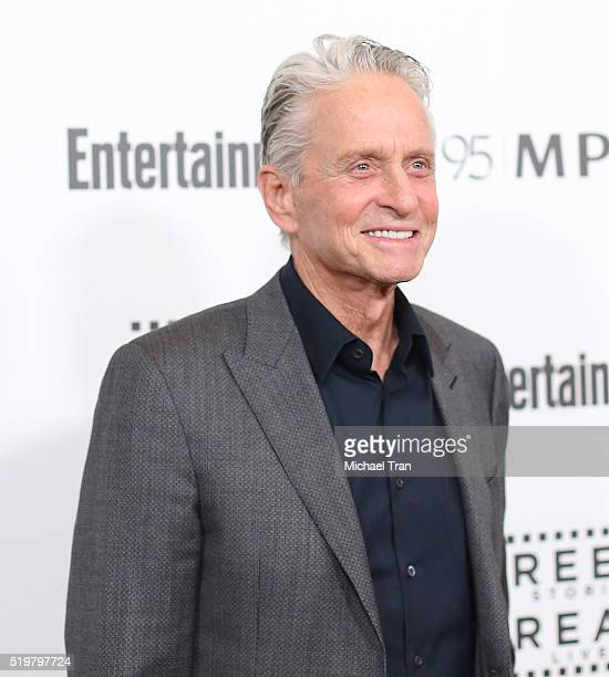 Michael Douglas arrives at the 5th Annual Reel Stories Real Lives Benefiting MPTF held at Milk Studios on April 7 2016 in Los Angeles California