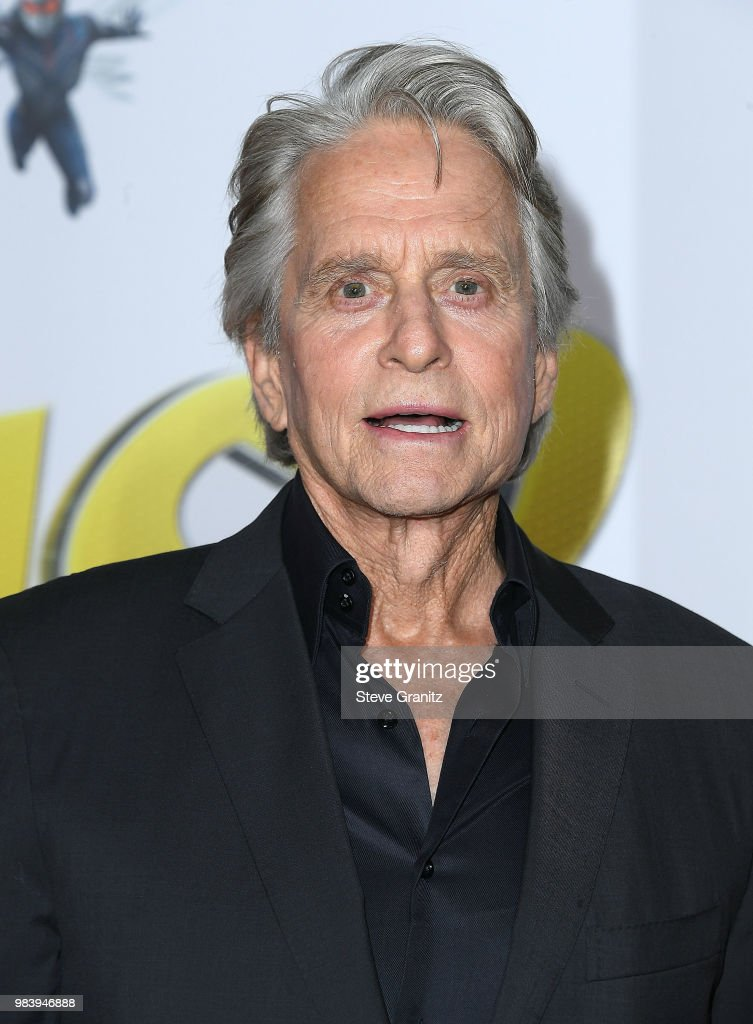 Michael Douglas arrives at the Premiere Of Disney And Marvel's 'Ant-Man And The Wasp' on June 25, 2018 in Hollywood, California.