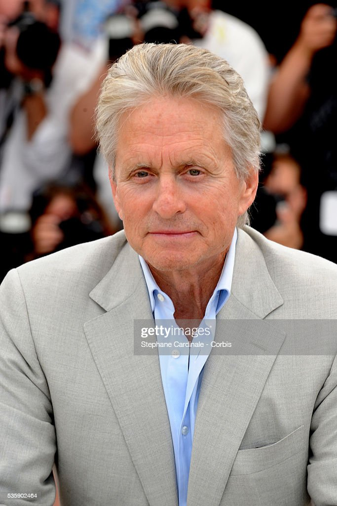 Michael Douglas at the photocall for 'Wall street : Money never sleeps' during the 63rd Cannes International Film Festival.