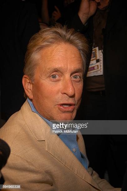 Michael Douglas attends Michael Kors Spring 2006 Collection at The Tent at Bryant Park on September 14 2005 in New York City