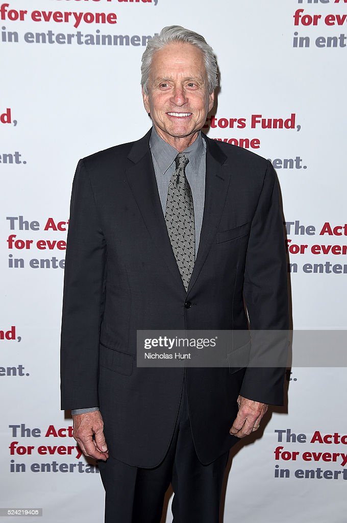 Michael Douglas attends The Actors Fund 2016 Gala at Marriott Marquis Times Square on April 25, 2016 in New York City.