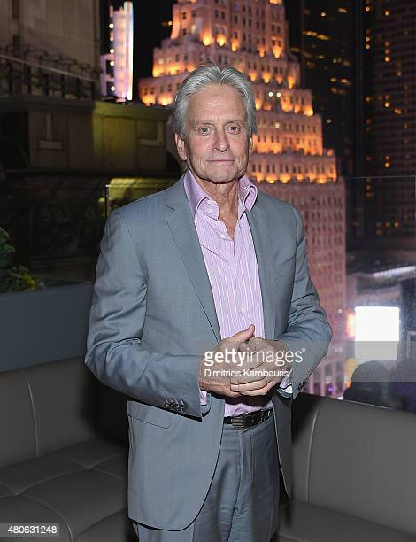 Michael Douglas attends the after party for Marvel's screening of 'AntMan' hosted by The Cinema Society and Audi at St Cloud at the Knickerbocker...