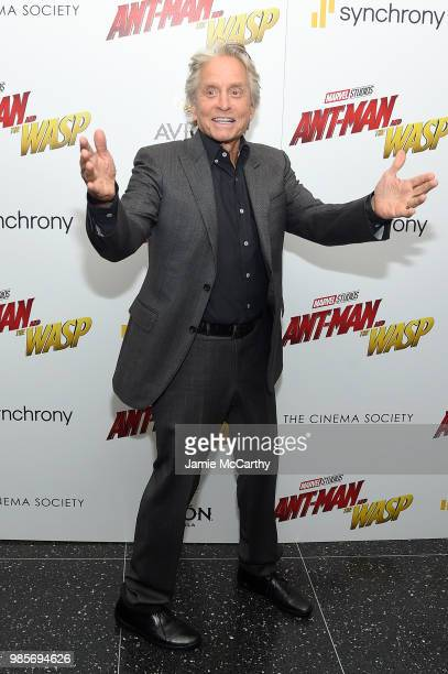Michael Douglas attends the 'AntMan And The Wasp' New York Screening at Museum of Modern Art on June 27 2018 in New York City