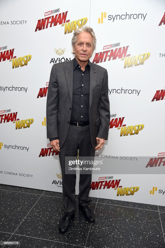 Michael Douglas attends the 'Ant-Man And The Wasp' New York Screening at Museum of Modern Art on June 27, 2018 in New York City.