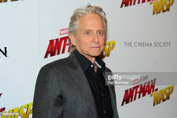 Michael Douglas attends The Cinema Society With Synchrony And Avion Host A Screening Of Marvel Studios' 'AntMan And The Wasp' at The Museum of Modern...