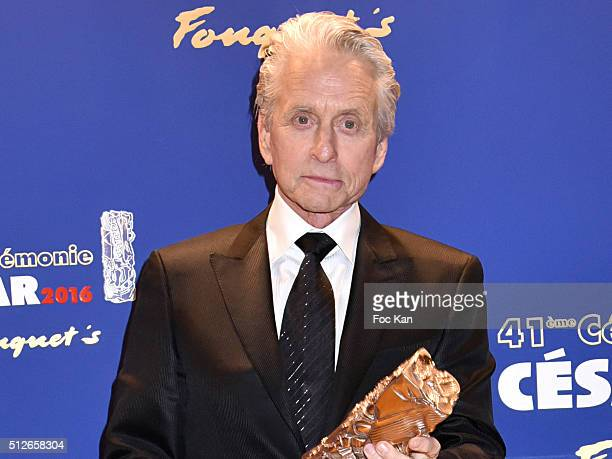 Michael Douglas attends the Dinner at Le Fouquet' after the Cesar Film Awards 2016 on February 26 2016 in Paris France