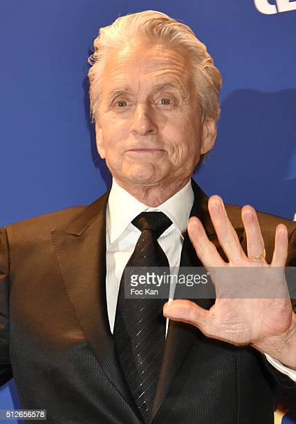 Michael Douglas attends the Dinner At Le Fouquet's Outside Arrivals Cesar Film Awards 2016 At Theatre du Chatelet on February 26 2016 in Paris France