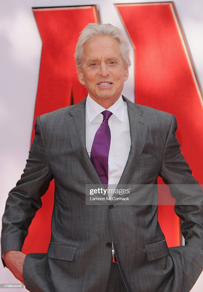 Michael Douglas attends the European Premiere of Marvel's 'Ant-Man' at Odeon Leicester Square on July 8, 2015 in London, England.