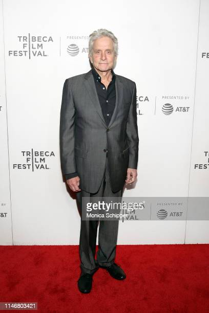 Michael Douglas attends the It Takes A Lunatic world premiere during the 2019 Tribeca Film Festival at BMCC Tribeca PAC on May 03 2019 in New York...