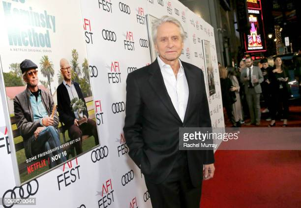 Michael Douglas attends the Los Angeles Premiere of 'The Kominsky Method ' at AFI Fest at TCL Chinese Theatre on November 10 2018 in Hollywood...