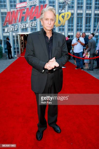 Michael Douglas attends the premiere of Disney And Marvel's 'AntMan And The Wasp' on June 25 2018 in Hollywood California