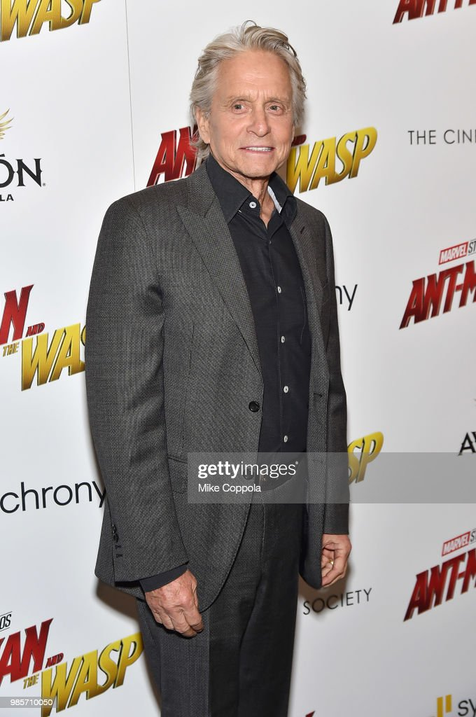 Michael Douglas attends the screening of Marvel Studios' 'Ant-Man and The Wasp' hosted by The Cinema Society with Synchrony and Avion at Museum of Modern Art on June 27, 2018 in New York City.