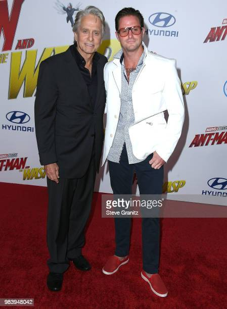 Michael Douglas Cameron Douglas arrives at the Premiere Of Disney And Marvel's 'AntMan And The Wasp' on June 25 2018 in Hollywood California