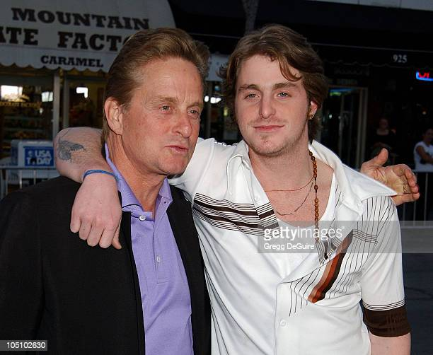 "Michael Douglas & Cameron Douglas during ""It Runs In The Family"" Premiere - Arrivals at Mann Bruin Theatre in Westwood, California, United States."
