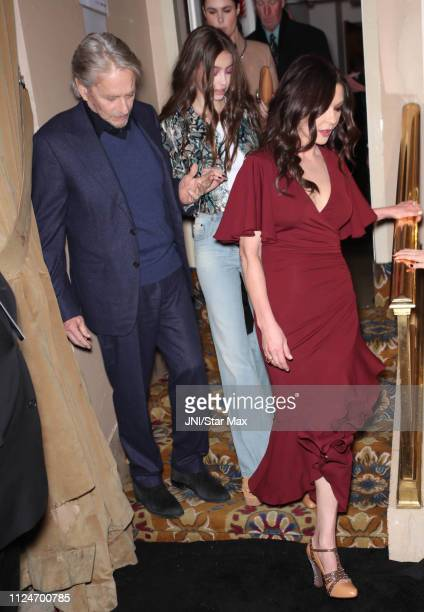 Michael Douglas Carys Zeta Douglas and Catherine Zeta Jones are seen on February 13 2019 in New York City