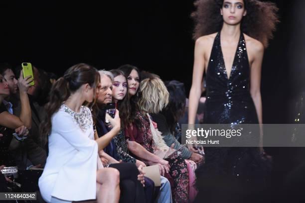 Michael Douglas Carys Zeta Douglas and Catherine ZetaJones attend the Michael Kors Collection Fall 2019 Runway Show at Cipriani Wall Street on...