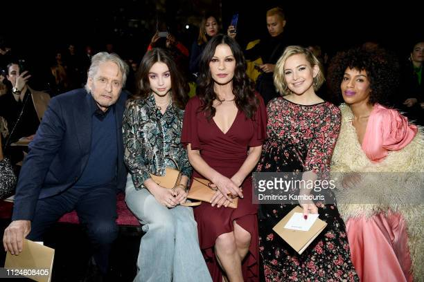 Michael Douglas Carys Zeta Douglas Catherine ZetaJones Kate Hudson and Kerry Washington attend the Michael Kors Collection Fall 2019 Runway Show at...