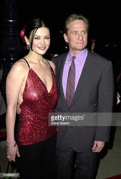 Michael Douglas Catherine ZetaJones during 'Traffic' Los Angeles Premiere at The Academy in Beverly Hills California United States